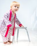 Beautiful little girl in pajama Stock Photo