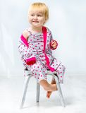 Beautiful little girl in pajama Royalty Free Stock Photo