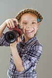 Beautiful little girl photographed Stock Images