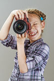 Beautiful little girl photographed Royalty Free Stock Images