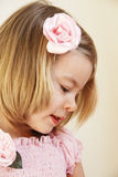 Beautiful little girl in pink Stock Images