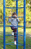 Little girl on playground Stock Photography