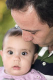 Beautiful Little Girl Playing With Dad Royalty Free Stock Photography