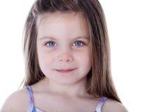 Beautiful little girl portrait isolated on white. Stock Photo