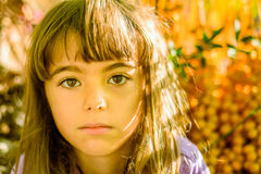 Beautiful little girl. Portrait of a beautiful seven year old girl stock photos