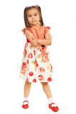 Beautiful little girl posing. Isolated on white background Royalty Free Stock Photos