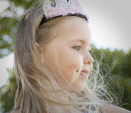 Beautiful little girl princess Royalty Free Stock Images