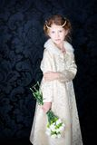 Beautiful little girl in princess dress Royalty Free Stock Images