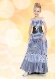 Beautiful little girl in Princess dress. Royalty Free Stock Photo