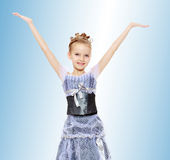 Beautiful little girl in Princess dress. Stock Photo
