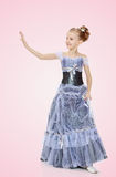 Beautiful little girl in Princess dress. Royalty Free Stock Images