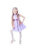 Beautiful little girl in purple dress Royalty Free Stock Images
