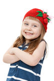 Beautiful little girl in a red hat Royalty Free Stock Image