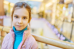Beautiful little girl in shopping center Stock Images