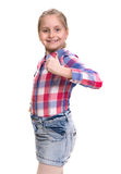 Beautiful little girl showing ok sign Royalty Free Stock Photo