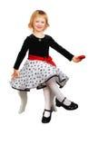 Beautiful Little Girl Sitting Royalty Free Stock Photography