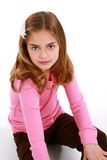 Beautiful little girl sitting Royalty Free Stock Images