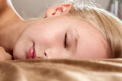 Beautiful little girl sleeping Royalty Free Stock Images