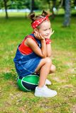 Beautiful little girl smiling royalty free stock photo