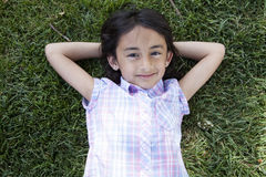 Beautiful little girl smiling Stock Photo