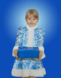 Beautiful little girl in suit Snow Maiden. Royalty Free Stock Photos
