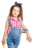 Beautiful little girl in a summer suit , close-up Royalty Free Stock Photo