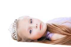 Beautiful little girl in tiara Stock Images