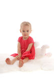 Beautiful little girl with a toy 3 Royalty Free Stock Photo