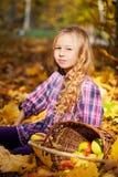 Beautiful little girl on walk Royalty Free Stock Photos