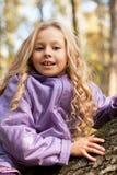 Beautiful little girl on walk Stock Images
