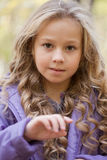 Beautiful little girl on walk Stock Photography