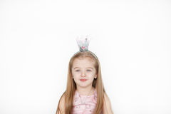 Beautiful little girl wearing fairy costume with crown Royalty Free Stock Photo