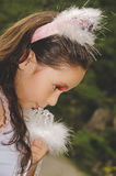 Beautiful little girl wearing a fairy costume Stock Photography