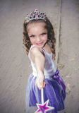 Beautiful little girl wearing a fairy costume Stock Image