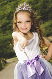 Beautiful little girl wearing a fairy costume Stock Images