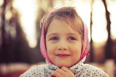 Beautiful little girl wearing   headscarf Royalty Free Stock Photos