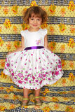 Beautiful little girl in white dress Royalty Free Stock Photo