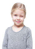 Beautiful little girl winking isolated Stock Image