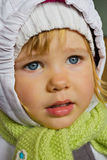 Beautiful little girl in winter clothes Royalty Free Stock Images