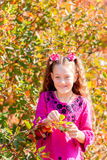 Beautiful little girl with a wonderful smile and happy on a summ Royalty Free Stock Images