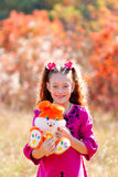 Beautiful little girl with a wonderful smile and happy on a summ Stock Photo