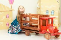 Beautiful little girl 5-6 years. Stock Photography