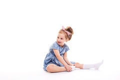 Beautiful little girl. stock photography