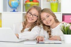 Beautiful little girls at class Royalty Free Stock Photos