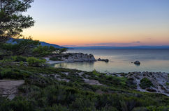 Beautiful little gulf in Sithonia, Chalkidiki, Greece Royalty Free Stock Image