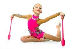 Beautiful little gymnast Stock Image