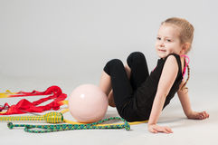 Beautiful little gymnast Stock Image