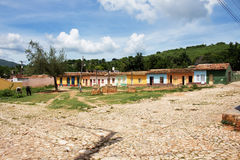 Beautiful little houses. Some beautiful little coloured houses in Trinidad (Cuba Stock Photos