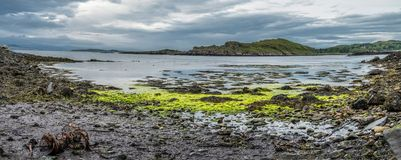 The beautiful coast and little islands at Aird. The beautiful little islands and coast at Aird, Scotland royalty free stock images
