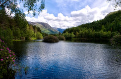 Glencoe Lochan in Summer Stock Image